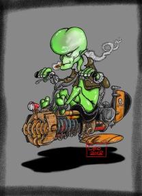 Alien biker (couleur)
